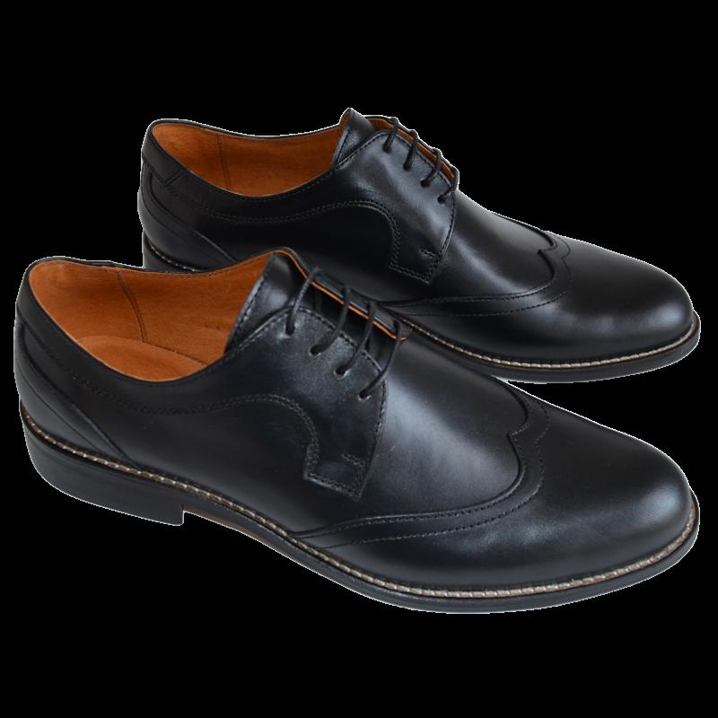 Pantofi Barbatesti Piele Negri Bocanci