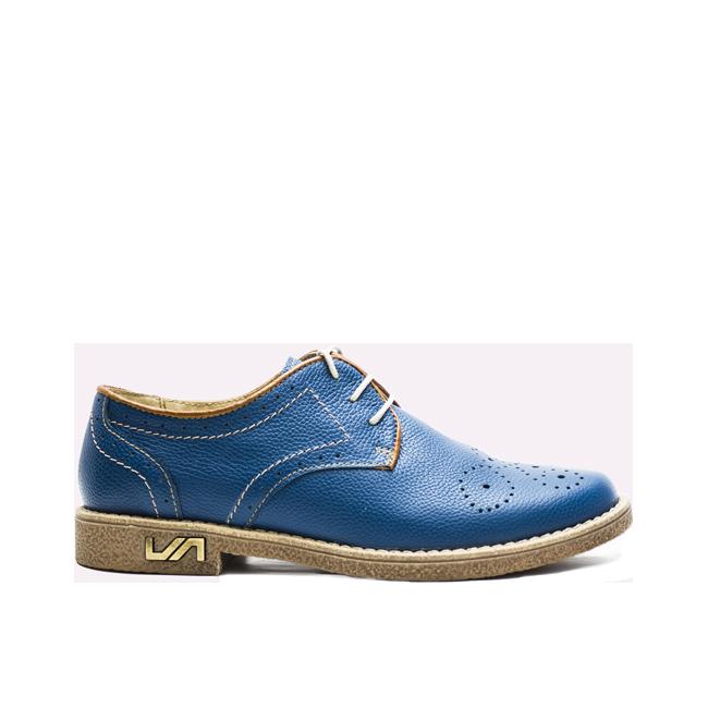 Pantofi dama cu siret albastri
