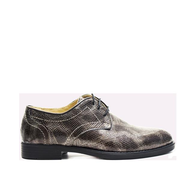 Pantofi dama cu siret maro - negru