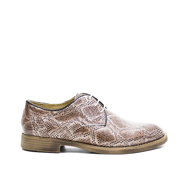 Pantofi dama cu siret bej