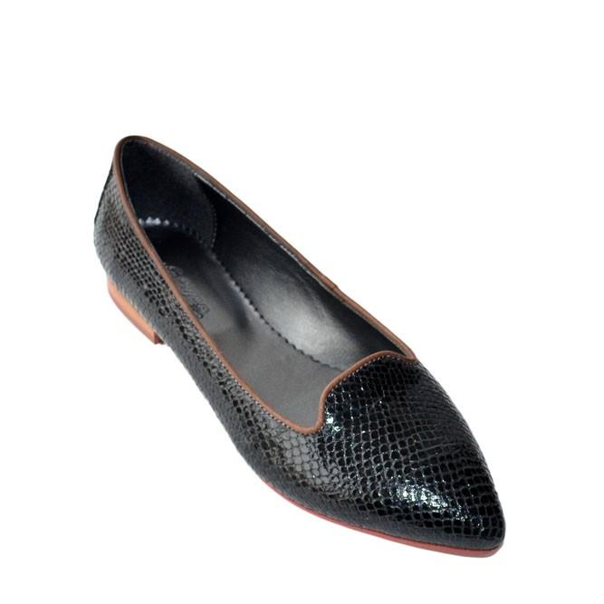 Pantofi dama ascutiti Croco