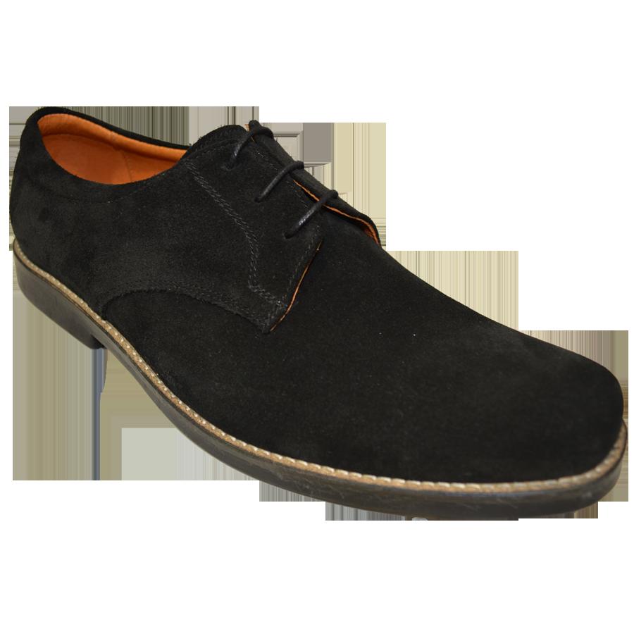 Pantofi barbatesti eleganti negri piele intoarsa