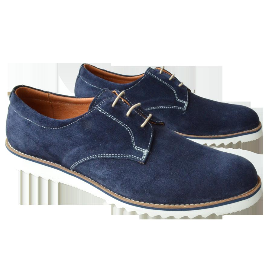 Pantofi barbatesti extralight piele albastri
