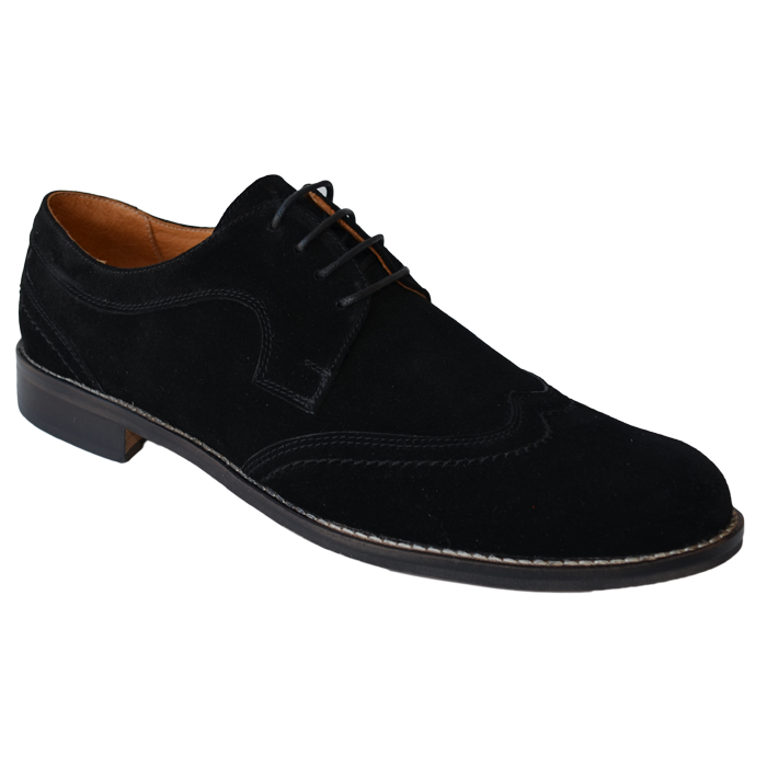 Pantofi eleganti negri piele intoarsa