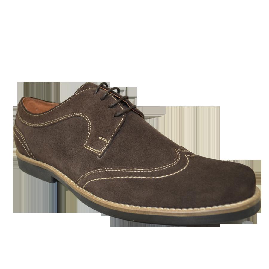 Pantofi barbatesti piele maro si talpa de crep