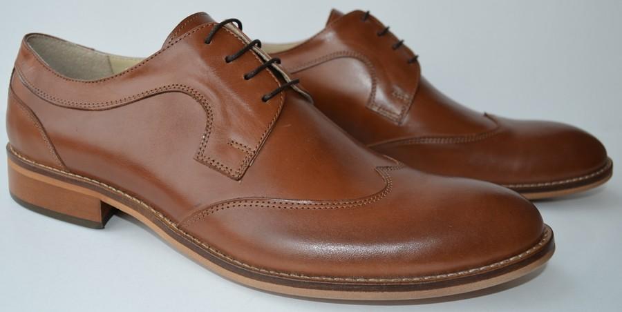 Pantofi eleganti barbatesti piele naturala maro