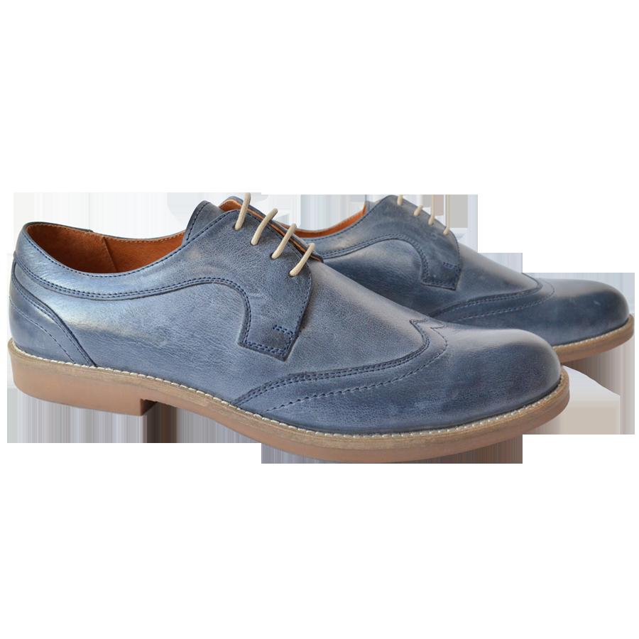 Pantofi barbatesti piele albastra