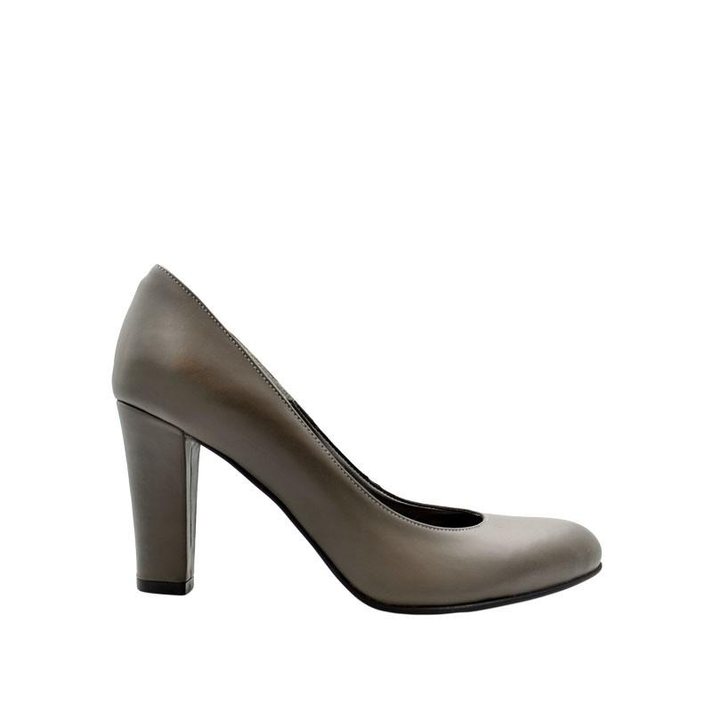 Pantofi de dama gri cu toc
