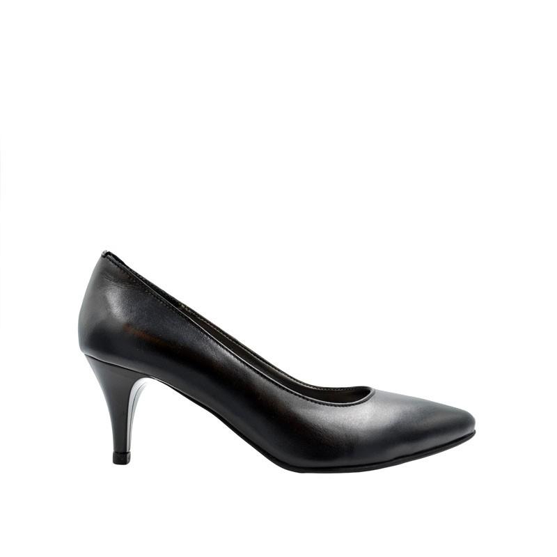 Pantofi dama stiletto negri cu toc 7 cm