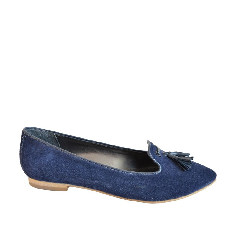 Pantofi dama ascutiti piele albastri
