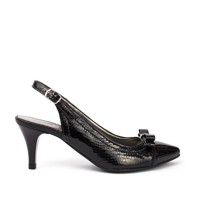 Sandale dama din piele naturala negre