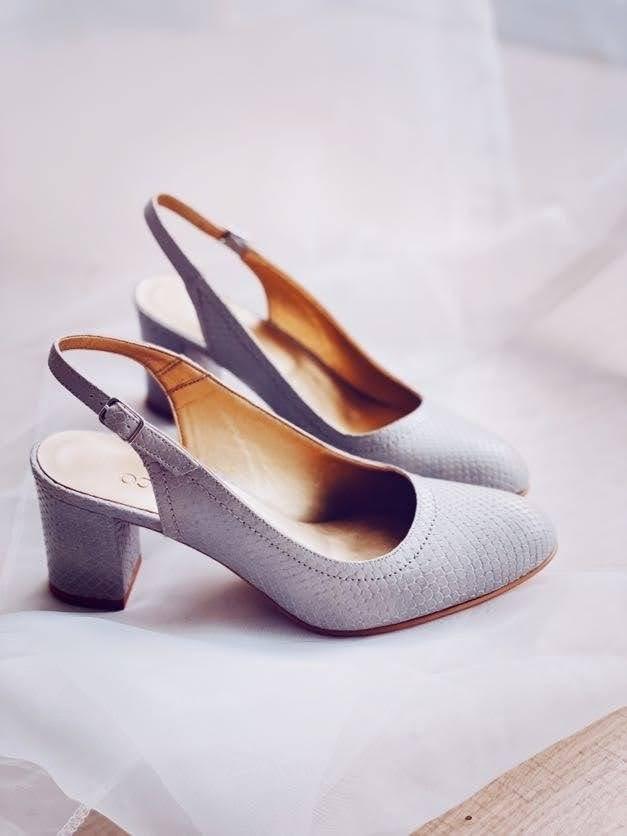 Sandale dama cu toc gros piele naturala gri