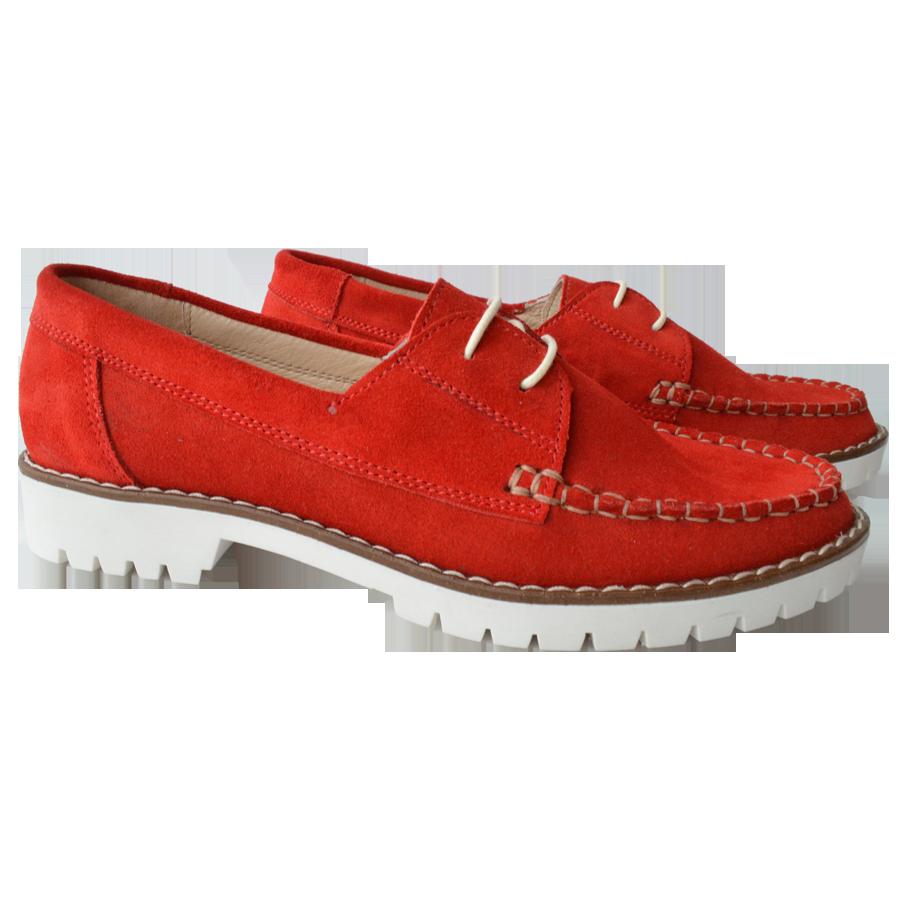 Scarpi dama rosii cu siret