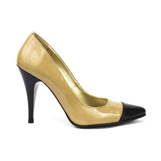 Pantofi dama stiletto piele nude