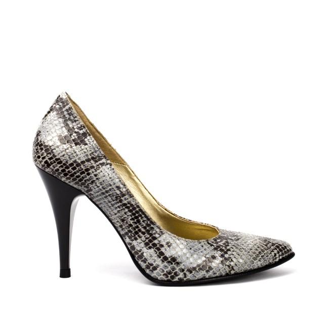 Pantofi dama stiletto gri
