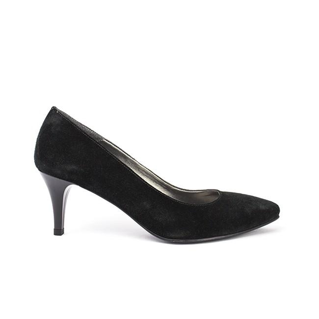 Pantofi dama ascutiti cu toc negri