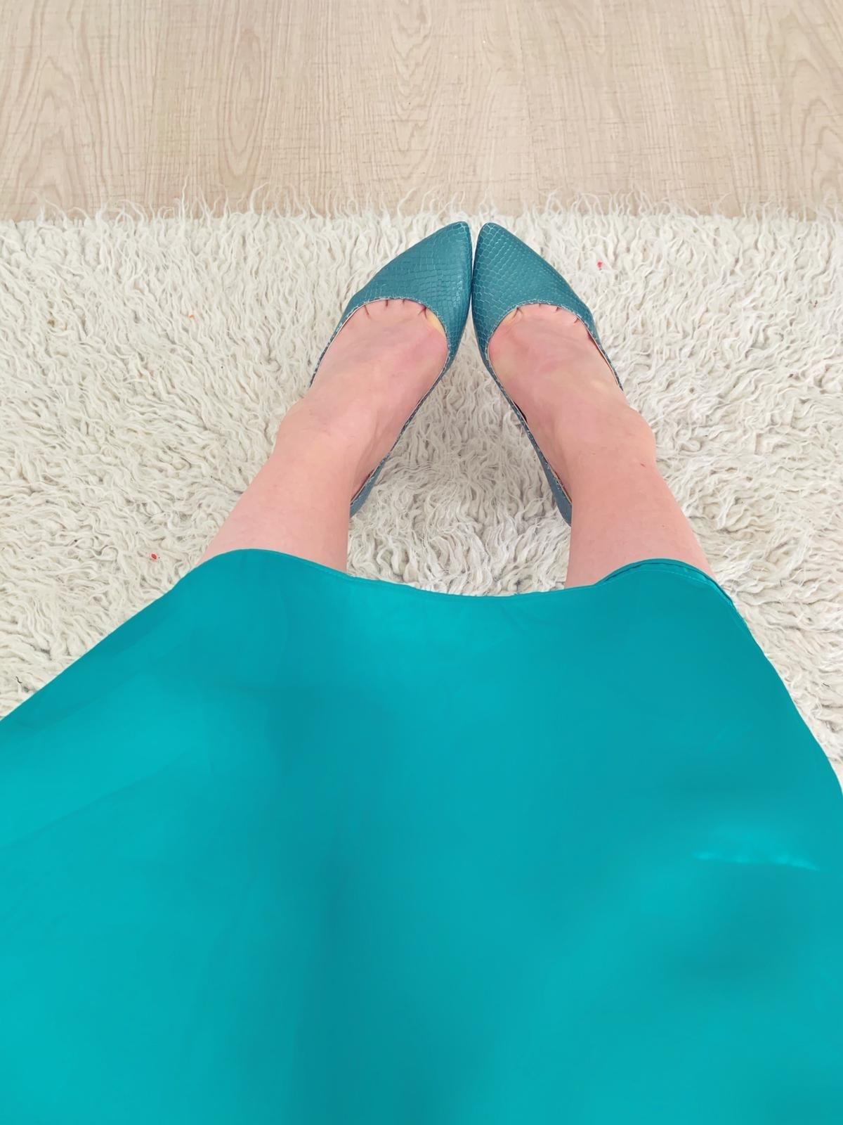 Pantofi dama stiletto cu toc mic verzi