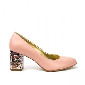 Pantofi dama toc gros roz