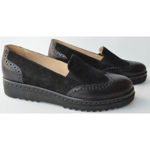 Pantofi dama oxford negri fara siret