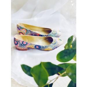 Balerini dama paun multicolor