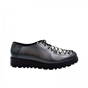 Pantofi dama cu siret piele naturala negru sidef