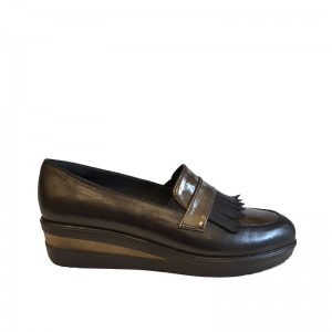Pantofi dama negri fara siret piele naturala