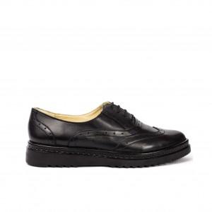 Pantofi dama oxford piele naturala neagra