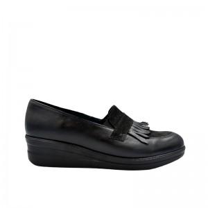 Pantofi dama negri fara siret din piele naturala