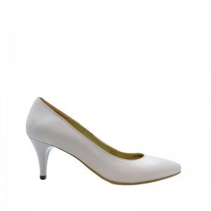 Pantofi dama pumps nude din piele naturala