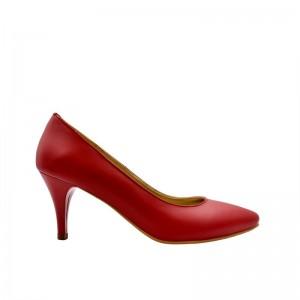 Pantofi dama rosii cu toc mic