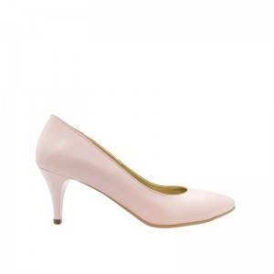 Pantofi dama pumps roz din piele naturala