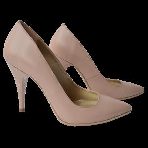 Pantofi dama stiletto din piele roz nude