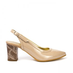Sandale dama lac din piele naturala bej