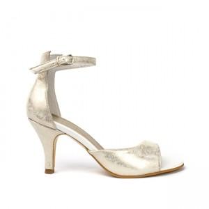 Sandale dama din piele naturala aurii