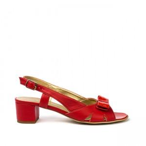 Sandale dama rosii cu funda