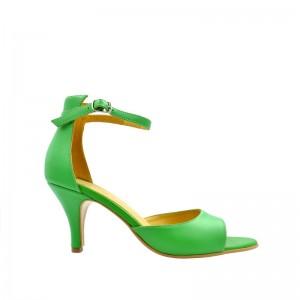 Sandale dama din piele naturala verzi