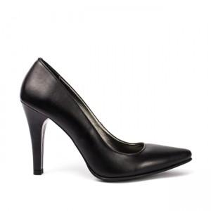 Pantofi dama stiletto piele naturala neagra