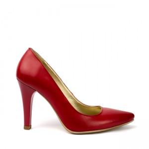 Pantofi dama stiletto piele naturala rosii